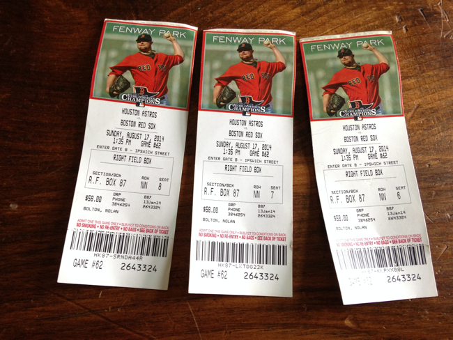 red sox tickets koskie
