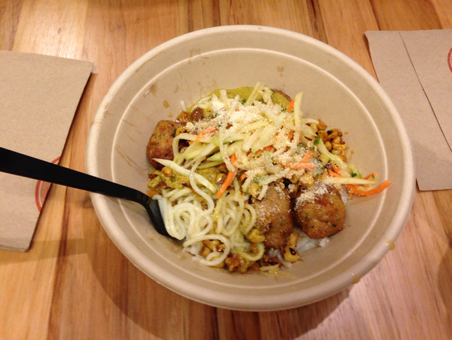 shophouse meatballs bowl